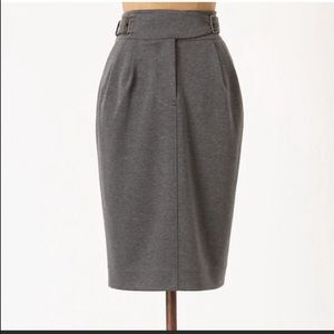 NWT Anthro Maeve Belted Buckle Pencil Skirt